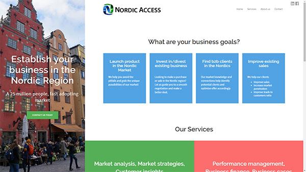 Nordic Access hemsida