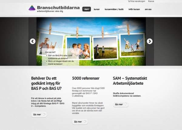 Webshop utbildningsföretag Branschutbildarna